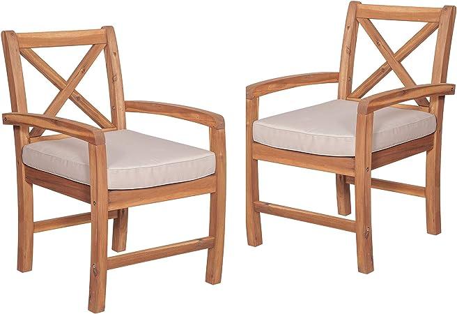 Amazon.com: Delacora Melbourne - Juego de dos sillas de ...