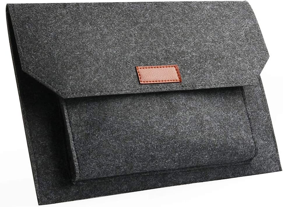 """Felt Laptop Envelope Sleeve -ABRONDA 11.6 inch Felt Expandable Large Space Case Protective Bag for 11.6"""" MacBook Air A1370 A1465 12"""" Notebook iPad Pro - Dark Gray"""