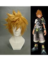 "Tengs12.6"" layered Blonde Cosplay Wig -- Ventus Kingdom Hearts"