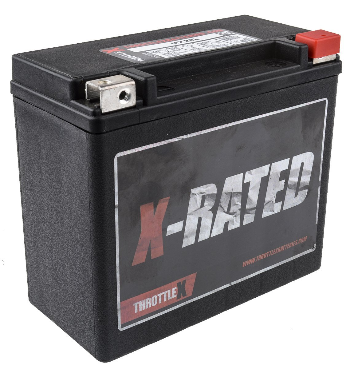 MX20L - MOTORCYCLE BATTERY - 500+ CCA ThrottleX Batteries