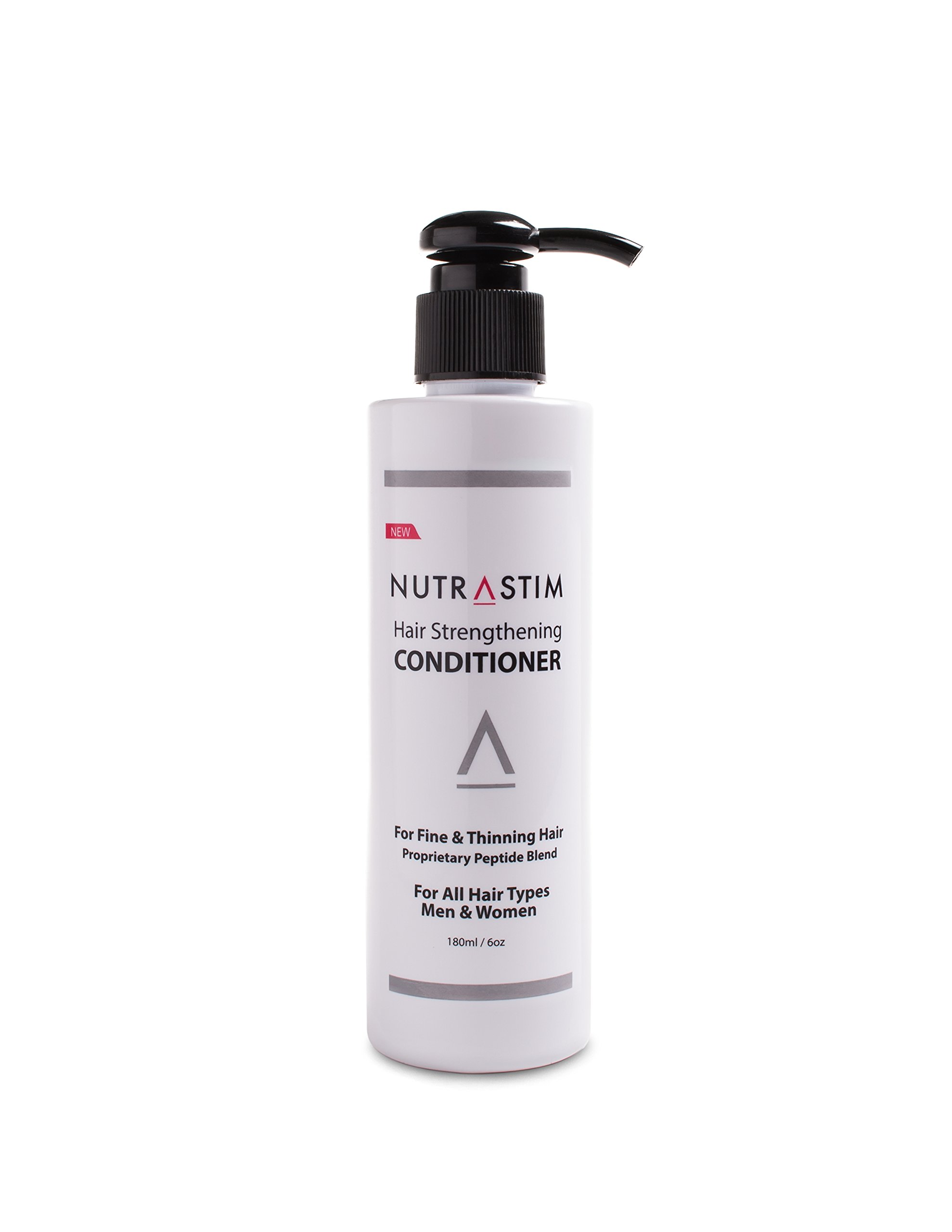 NutraStim Hair Strengthening Conditioner Anti-Thinning, Infused with Niacin, Biotin, Caffeine, Antioxidants and Other Natural Ingredients for All Hair Types, Men and Women