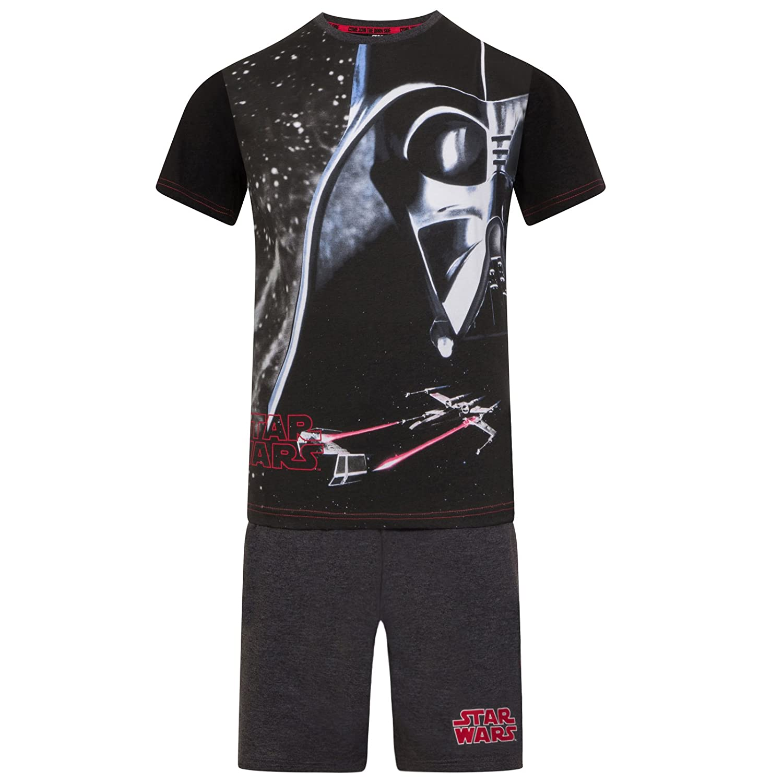 kurz Jungen Schlafanzug mit Darth Vader-Motiv Geschenk Offizielles Merchandise Star Wars