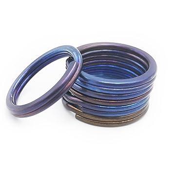 Amazon.com: Haxtec - Llavero de titanio con anillas rígidas ...