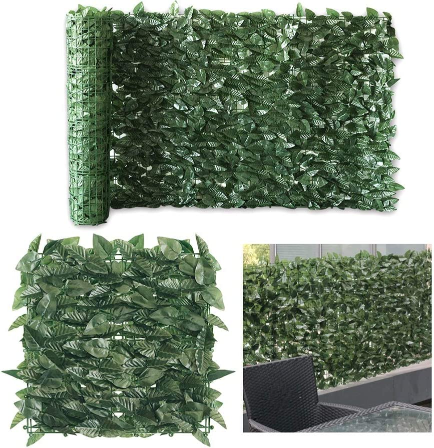 · Petgrow · Artificial Ivy Trellis Fence Privacy Screen, Faux Foliage Leaf Privacy Outdoor Boxwood Ivy,DIY Decorations for Fence Garden Backdrop,39 X 118 Inch
