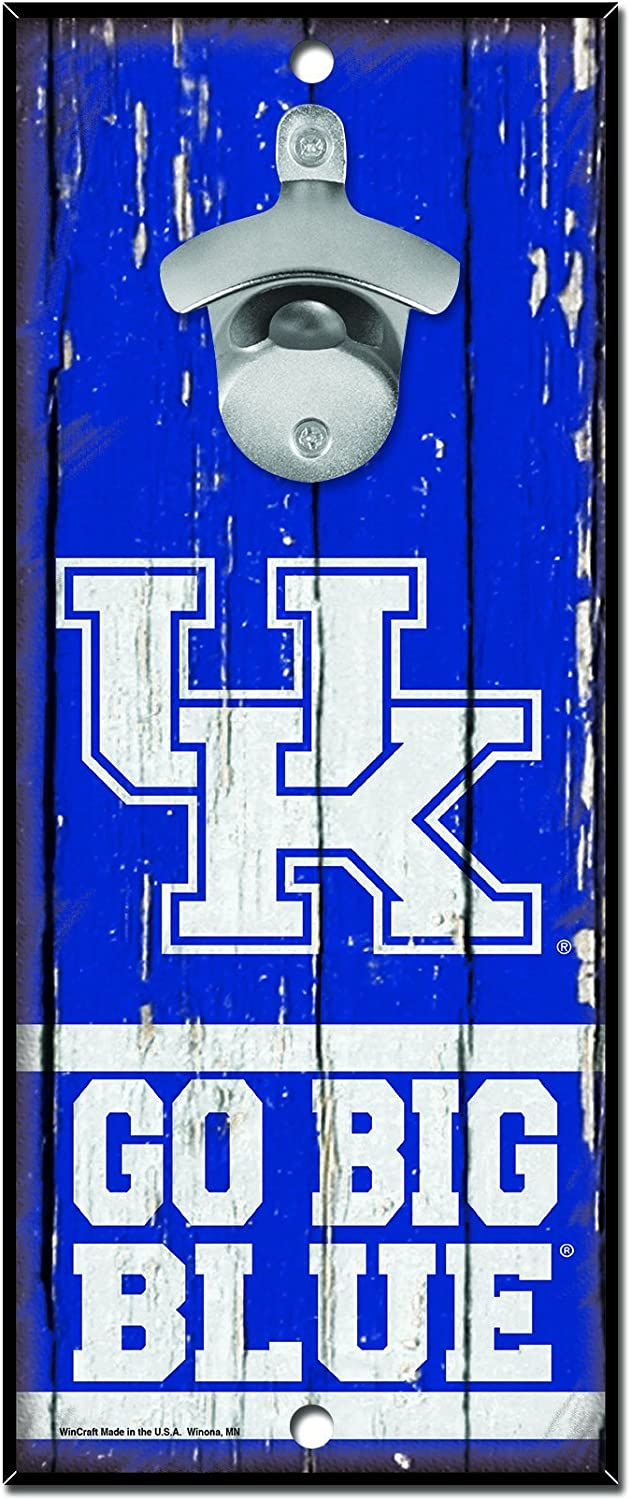 NCAA Kentucky Wildcats Wood Bottle Opener Sign, 5