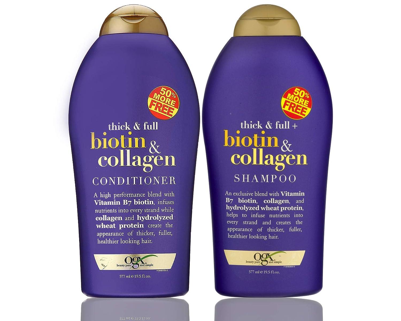 OGX (Thick & Full) Biotin & Collagen Shampoo + Conditioner 19.5oz, Duo-Set kaka-boynam10-low738