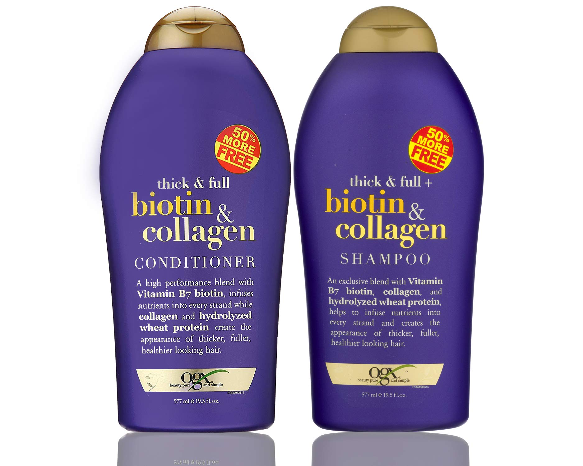 OGX (Thick & Full) Biotin & Collagen Shampoo + Conditioner 19.5oz, Duo-Set by OGX