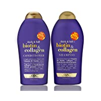 OGX (Thick & Full) Biotin & Collagen Shampoo + Conditioner 19.5oz, Duo-Set