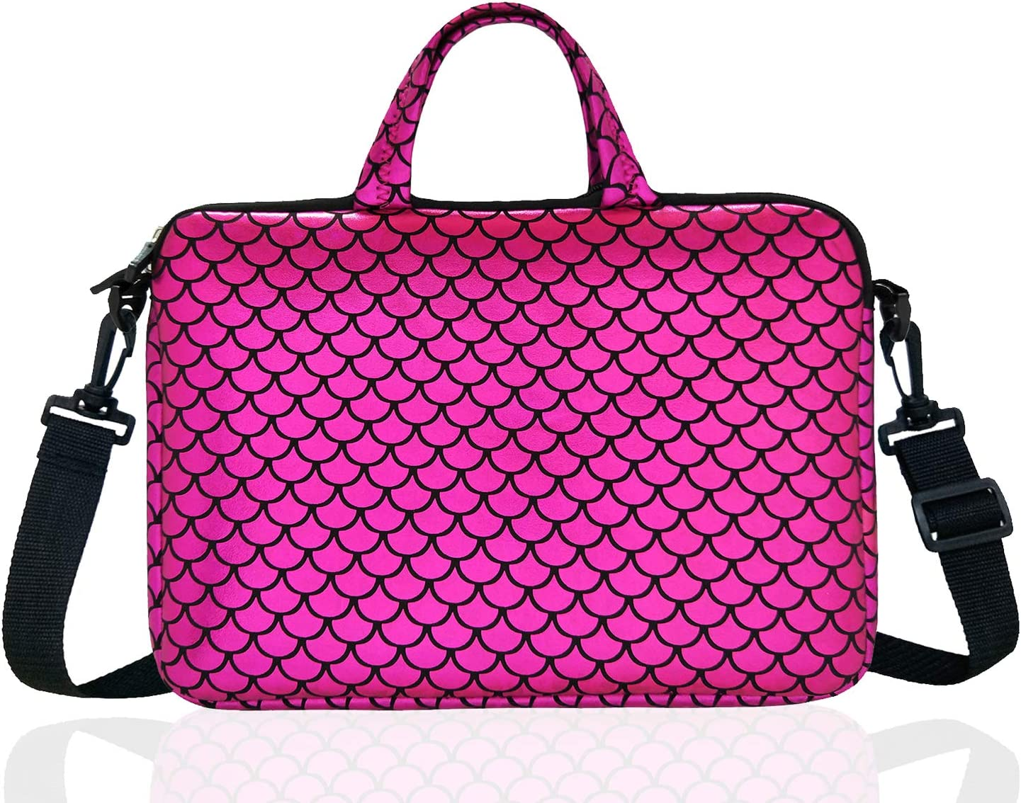 """17.3-Inch Laptop Shoulder Carrying Bag Case Sleeve For 17"""" 17.3 inch HP DELL (Purple)"""