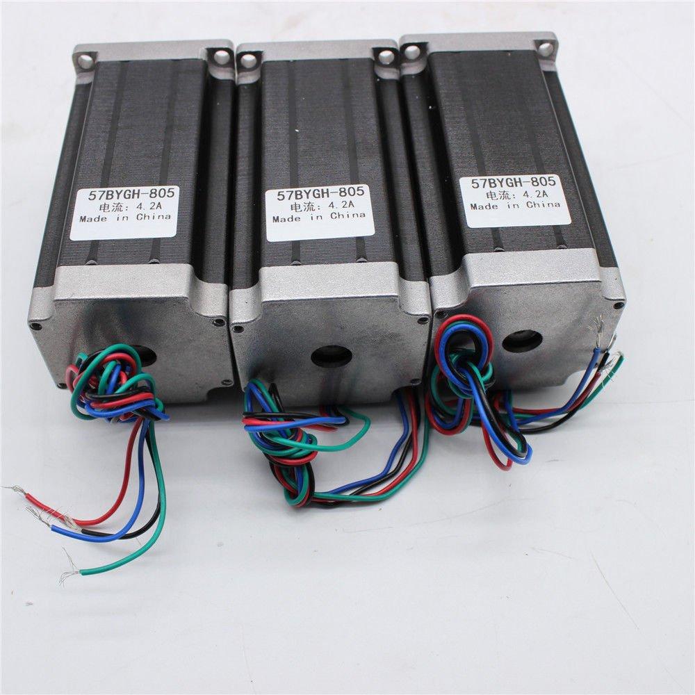 3 Axis 3Pcs Nema 23 Stepper motors 4.2A CNC Router Kit 425oz-in Single Driver