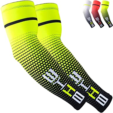 Pair Men /& Women Running Cycling Arm Coolers Outdoors B-Driven Sports Compression Arm Sleeves for Sun Protection Arm Warmers UV Protection SGS Certified Biking Sports Sun Sleeves