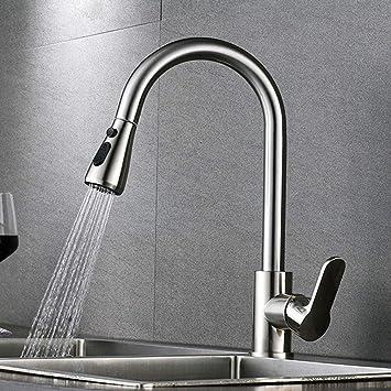 Easy Installation Monobloc Chrome Kitchen Taps Commercial Swivel Spout Single Lever Single Hole Mixer Kitchen Sink Tap