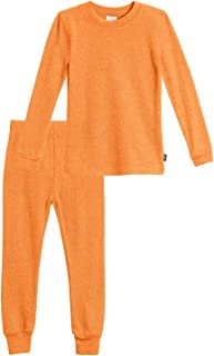 product image for City Threads Girls Thermal Underwear Set Long John, Soft Breathable Cotton Base Layer - Made in USA