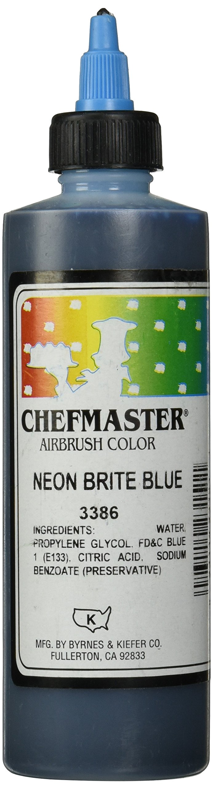 Chefmaster Airbrush Spray Food Color, 9-Ounce, Neon Brite Blue