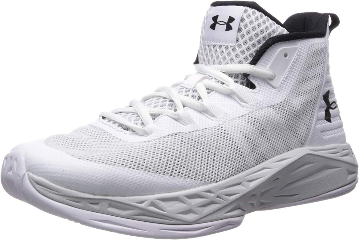 Under Armour Jet Mid Zapatos de Baloncesto Hombre, Blanco (White ...
