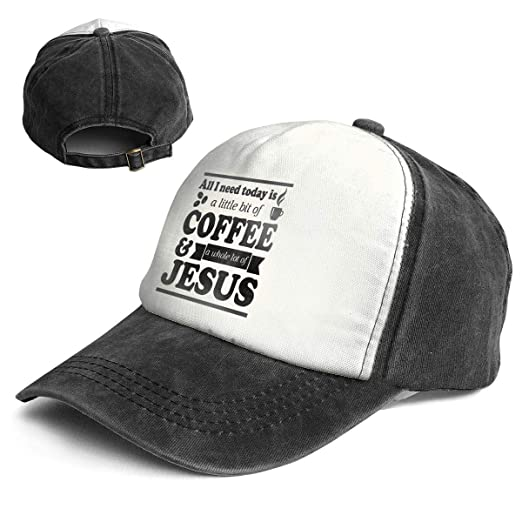 All I Need is Coffee and Jesus Top Level Unisex Quick Dry Sun Cap Outdoor  Sports bd7fac7dc3a3
