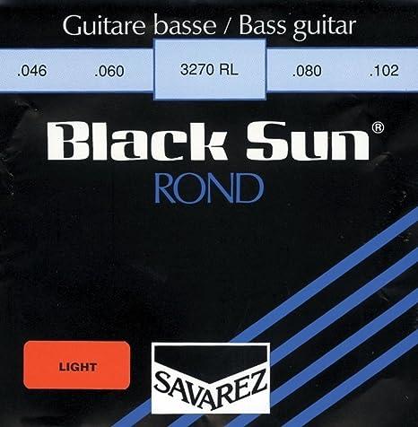 Savarez Cuerdas para Bajo ElŽctrico Black Sun Nickel. Entorchado redondo .046 cuerda