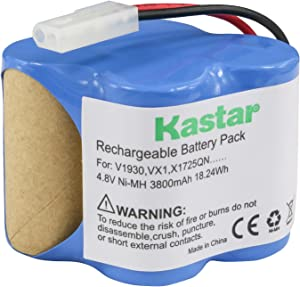 Kastar V1930 Battery (1 Pack), Ni-MH 4.8V 3800mAh, Replacement for Euro Pro Shark X1725QN, V1700Z, VX1, VAC-V1930, V1930, X8905 Cordless Sweeper Vacuum Cleaner