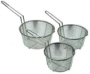 """Update International (FB-8) 8 1/2"""" Round Wire Fry Basket"""