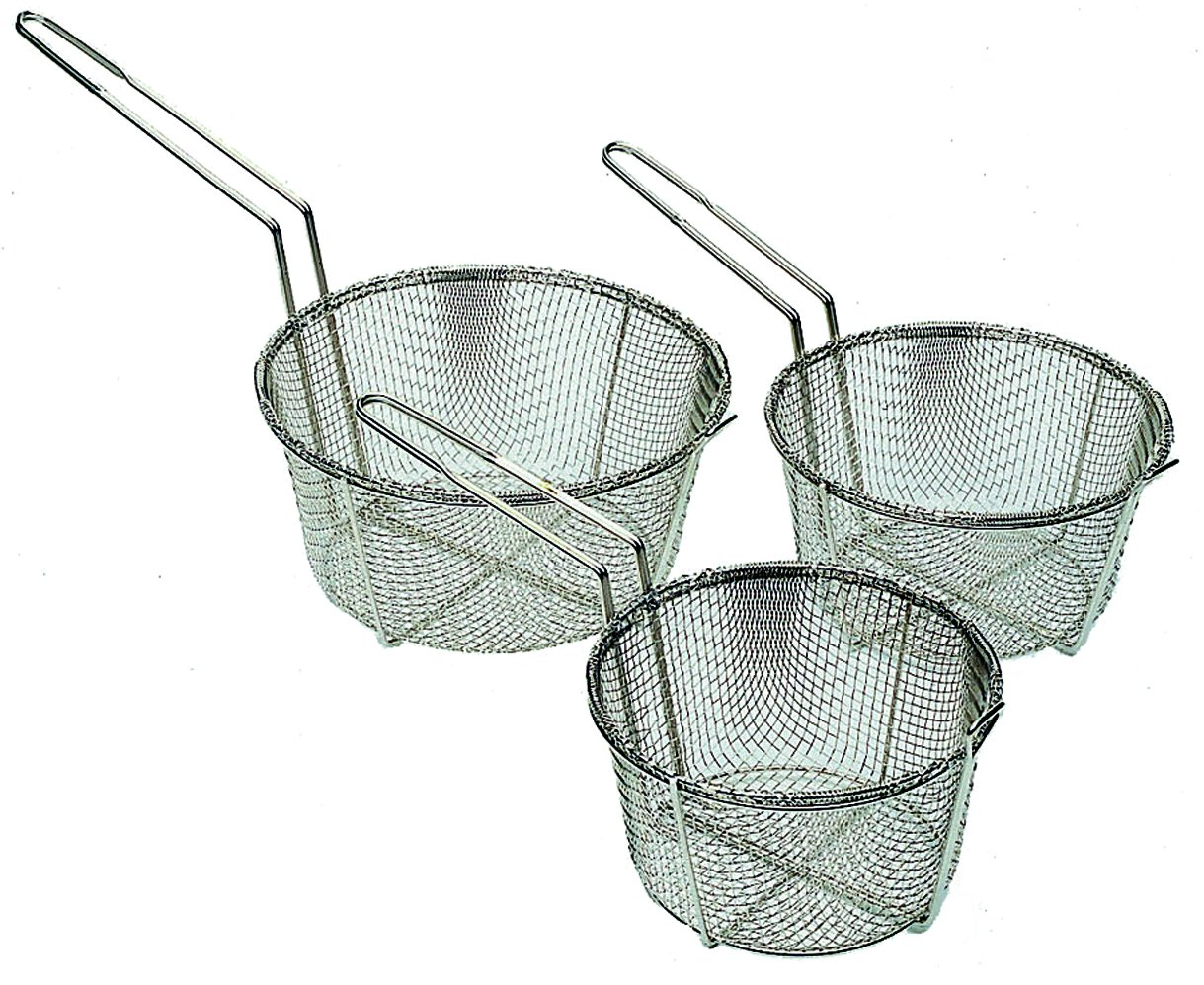 Update International (FB-8) 8 1/2'' Round Wire Fry Basket
