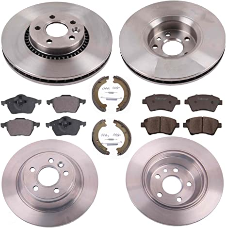 VOLVO S60 S80 REAR BRAKE DISCS PADS SHOES /& FITTING KIT