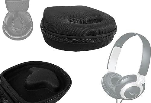 DURAGADGET Black Case Headphones NOT Included – Compatible with Sony MDR-XB200 XB400 XB600 ZX600 ZX700 7506V6 V700 ZX610 Z700 V500 XD900 XB500 XB700 DRG240 V600