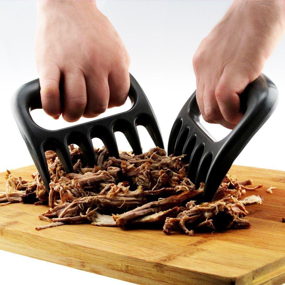 Tovantoe Bear claws9353 Meat Handler Carving Forks Set of 2 Black
