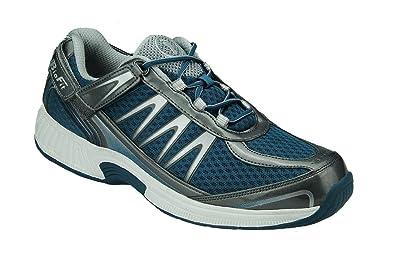 Orthofeet Sprint Comfort Orthopedic Plantar Fasciitis Diabetic Mens Sneakers  Blue Synthetic 7 M US f3483ae9039