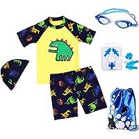 RETON Traje de baño para niños Traje de baño Juegos de Estampado de Dinosaurios Shark con Diferentes Equipos de natación