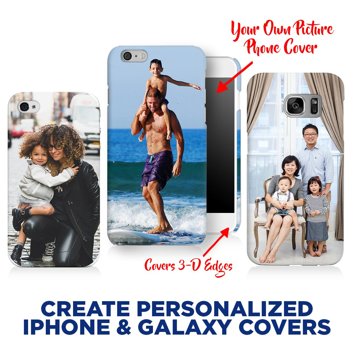 reputable site 285bd 7727d Amazon.com: Apple iPhone Xs/X Case, Your Own Custom iPhone & Galaxy ...