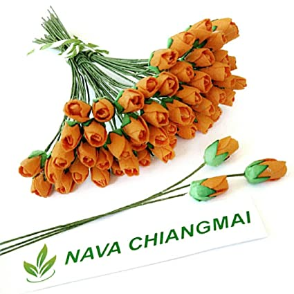 Amazon Com Nava Chiangmai Mini Rose Bud Mulberry Flower Paper