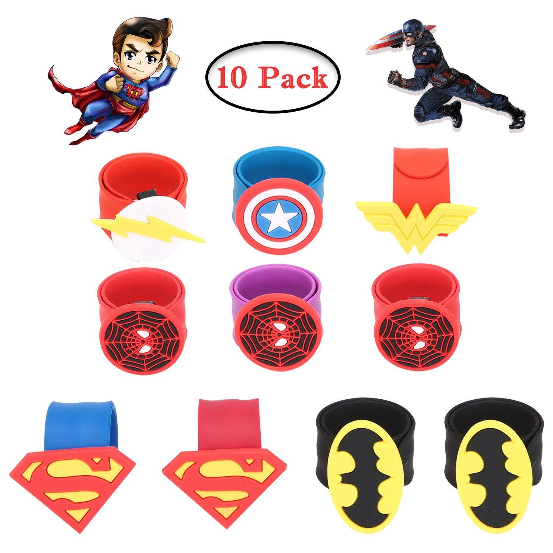 Tomus-UNI 34 Pieces Superhero Masks Set, Superhero Party Supplies, Party Favors Half Masks Children(32 Superhero Masks& 2 Superhero Party Bracelets)