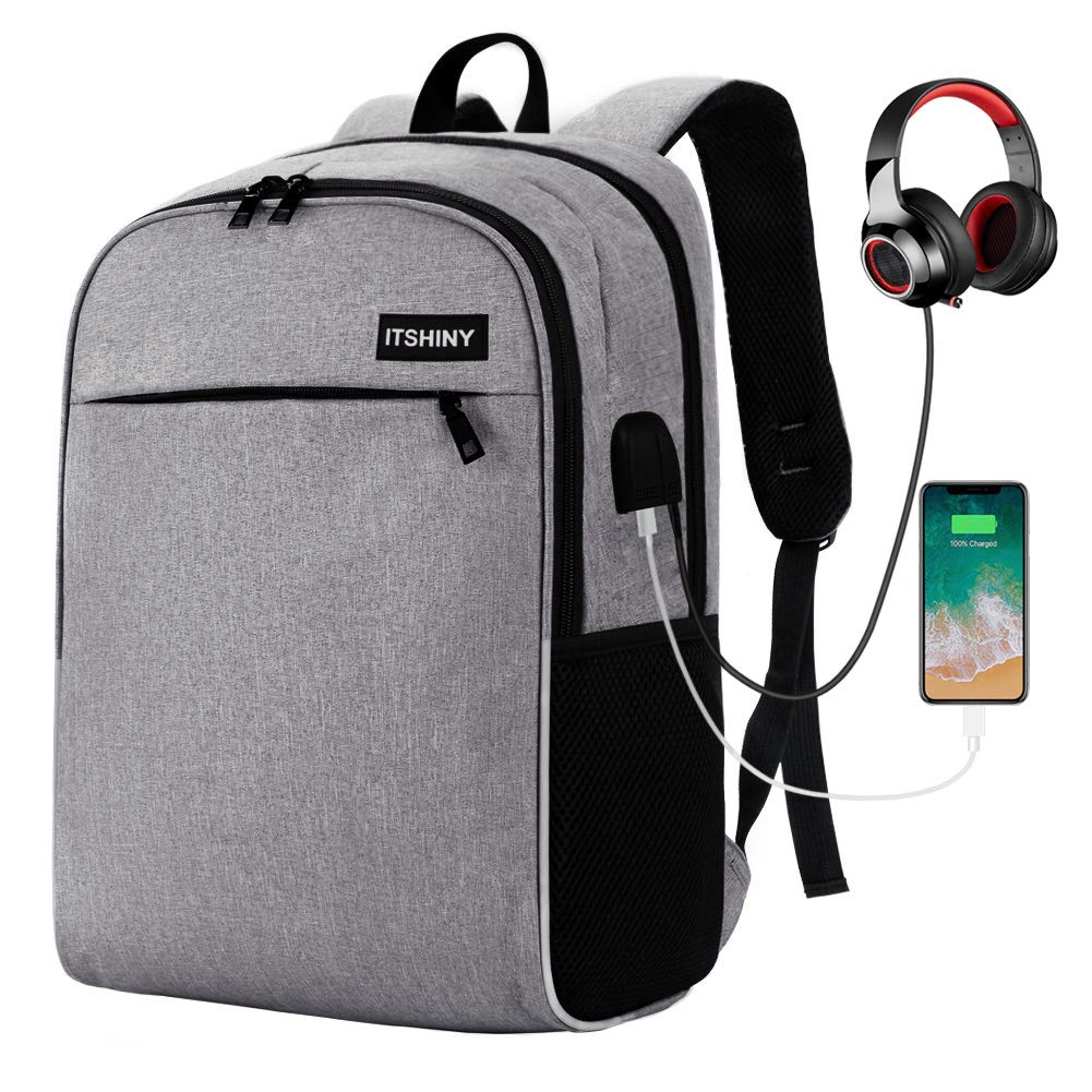 Slim Laptop Backpack, Business Travel Backpack with USB Charging Port Fits for 15.6 inch Laptop Notebook