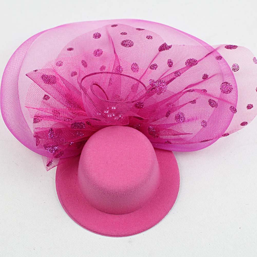 SZTARA Fashion Englon Style Mesh Net Top Hat Headwear Headband with Hair Clip