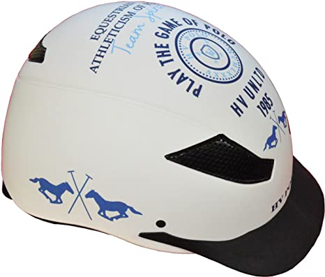 HV Polo – Casco de equitación MC lennan, color blanco, tamaño M ...