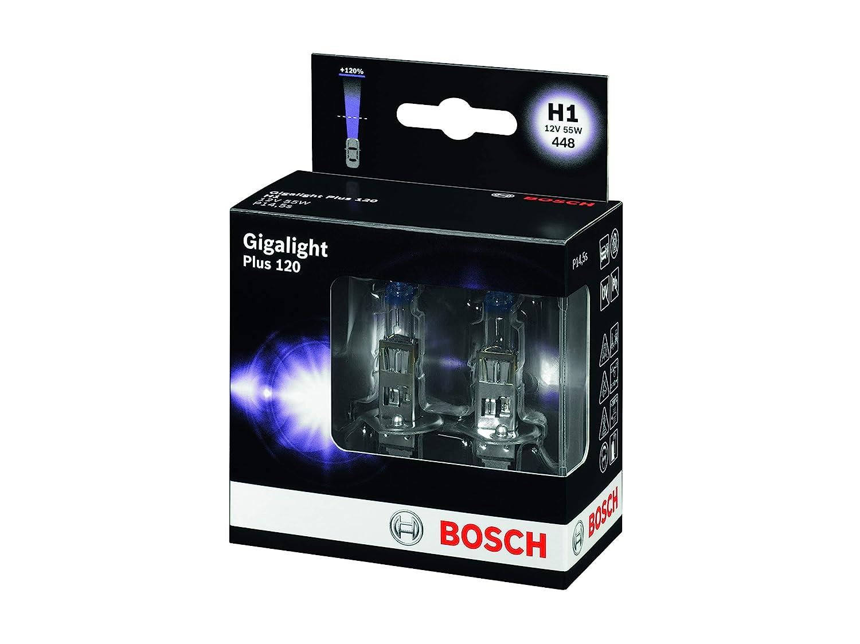 12 V BOSCH 1987301105 Gigalight Plus 120 Xenon Bulb H1 P14 55W 5s 2 Set