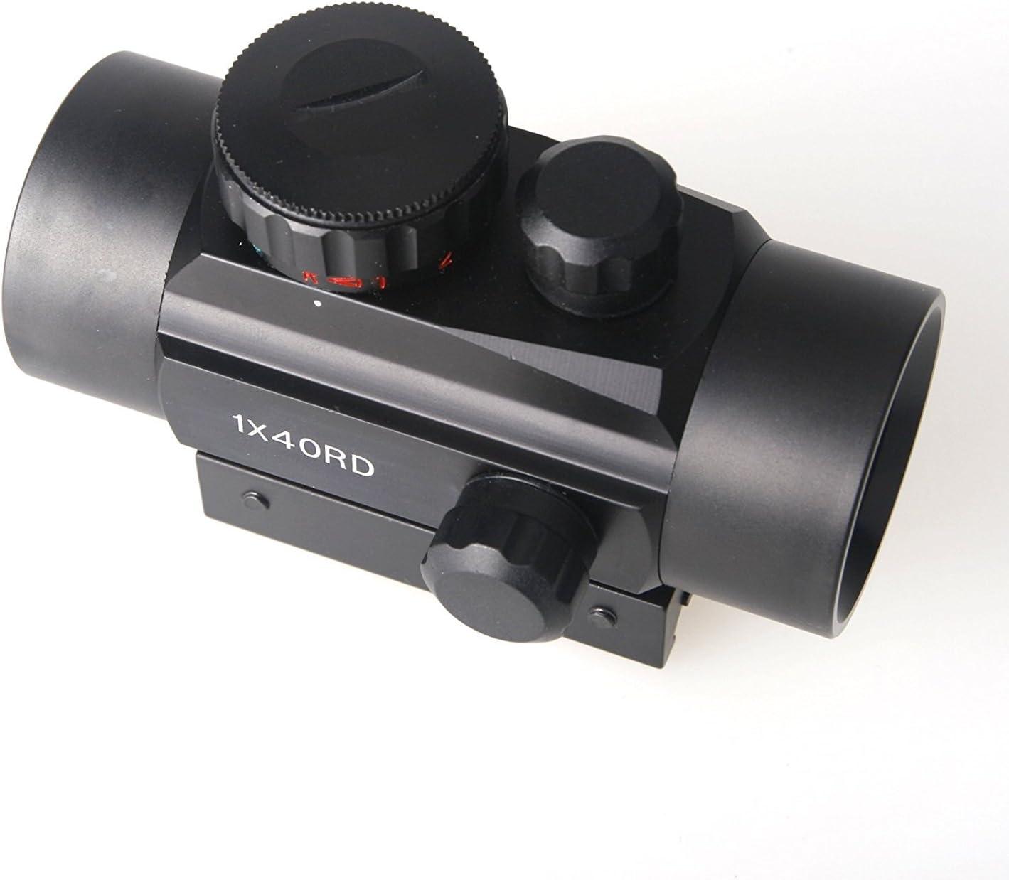 Z ZELUS Mirino Telescopico Tattico 1x40mm Reflex Verde e Punto Rosso con Guide di Montaggio 20mm