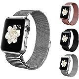 BRG apple watch バンド,ミラネーゼループ アップルウォッチバンド アップルウォッチ1 apple watch series 2 apple watch series 3 ステンレス留め金製(38mm,シルバー)18ヶ月保証付き
