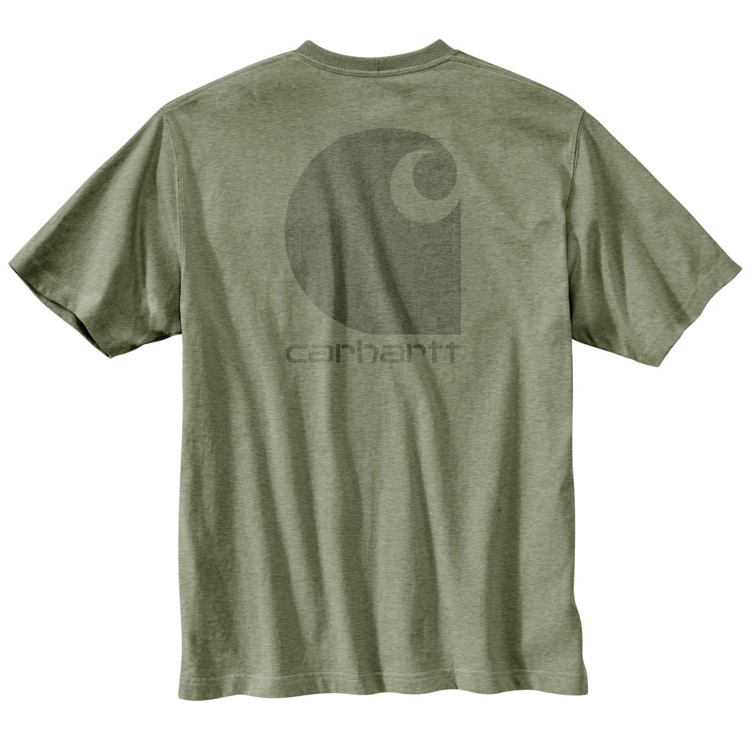 661d3ca55f Amazon.com: Carhartt Men's Workwear C-Logo Graphic Pocket SS T-Shirt:  Clothing