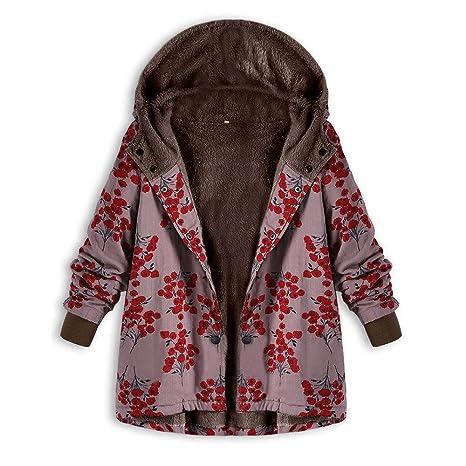 RETUROM Abrigo Chaqueta para Mujer con Capucha