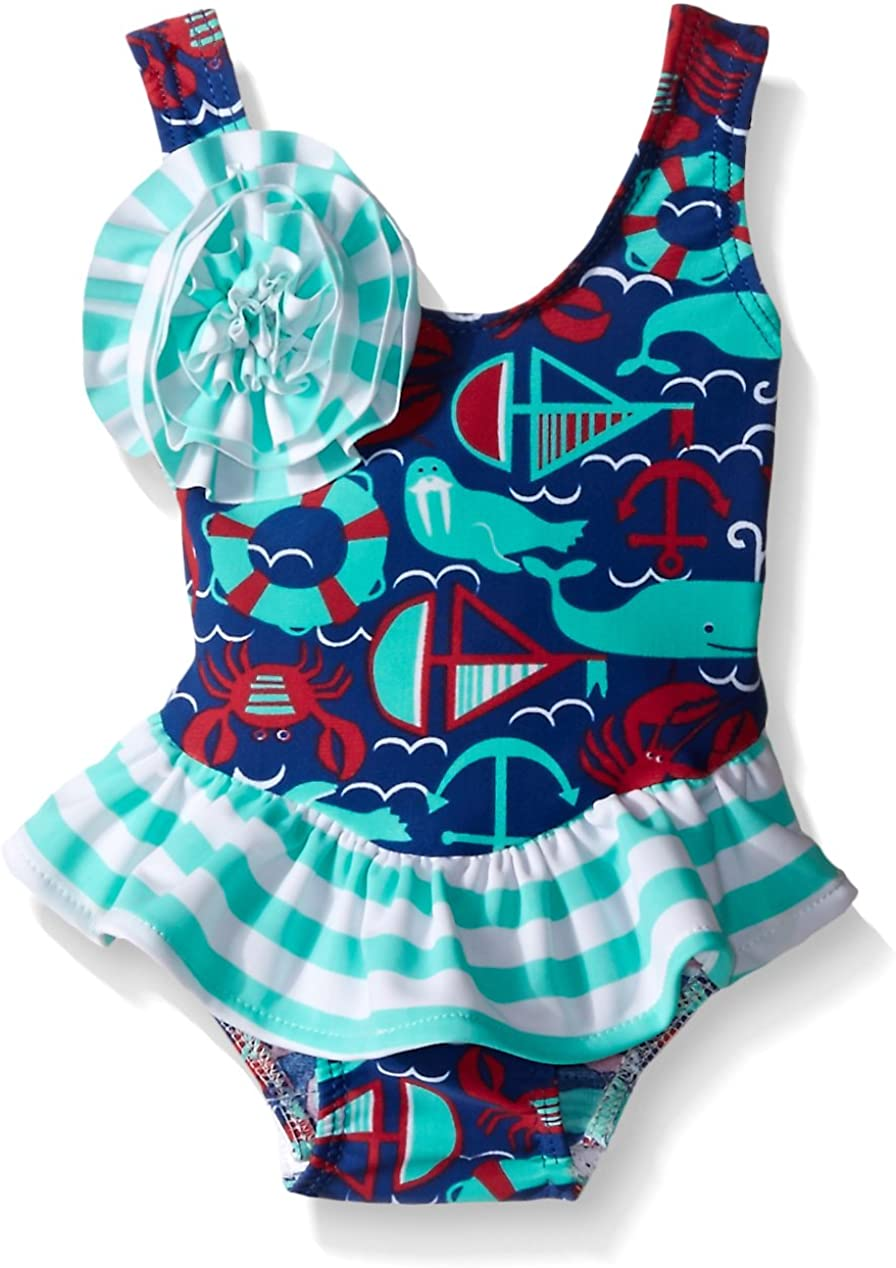 Flap Happy Girls UPF 50 Rio Infant Swimsuit with Snap Crotch