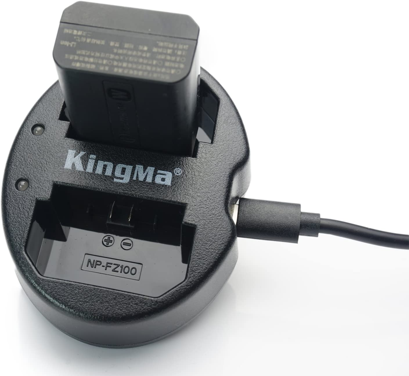 King Ma Dual USB Battery Charger for Sony NP-FZ100,Compatible with Sony A7III, Sony A7M3 Sony A9,Sony A7S3, Sony A7RIII A7R3