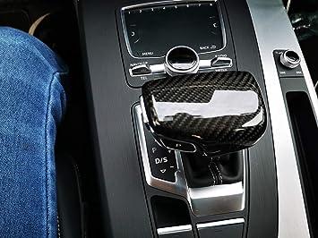KSTE Carbon-Faser-Auto Schaltknauf Abdeckung Trim for Audi A6L Q5 A5 A4L Q7