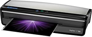 Fellowes LaminatorJupiter 2 125, Rapid 1 Minute Warm-up Laminating Machine, with Laminating Pouches Kit (5734101)