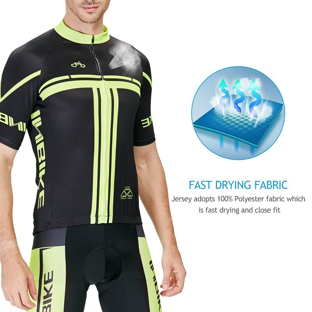 INBIKE Mens Short Sleeve Cycling Jersey Set