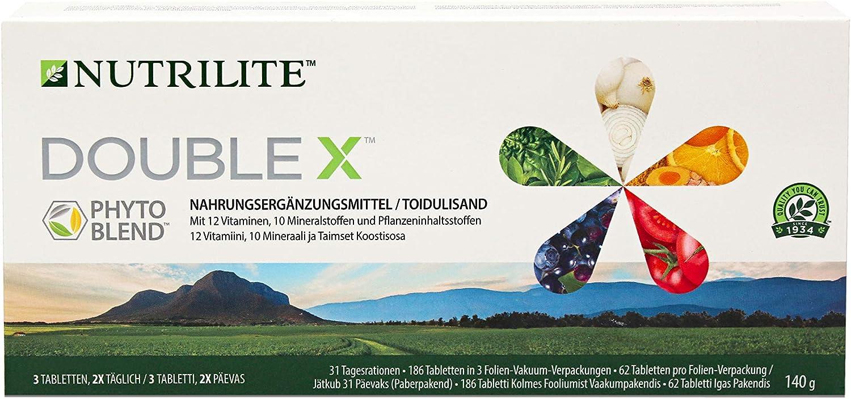 Complemento Alimenticio Multivitamínico/ Multimineral/ Fitonutriente DOUBLE X™ NUTRILITE™- Con un aroma herbal agradablemente fresco, el Complemento ...