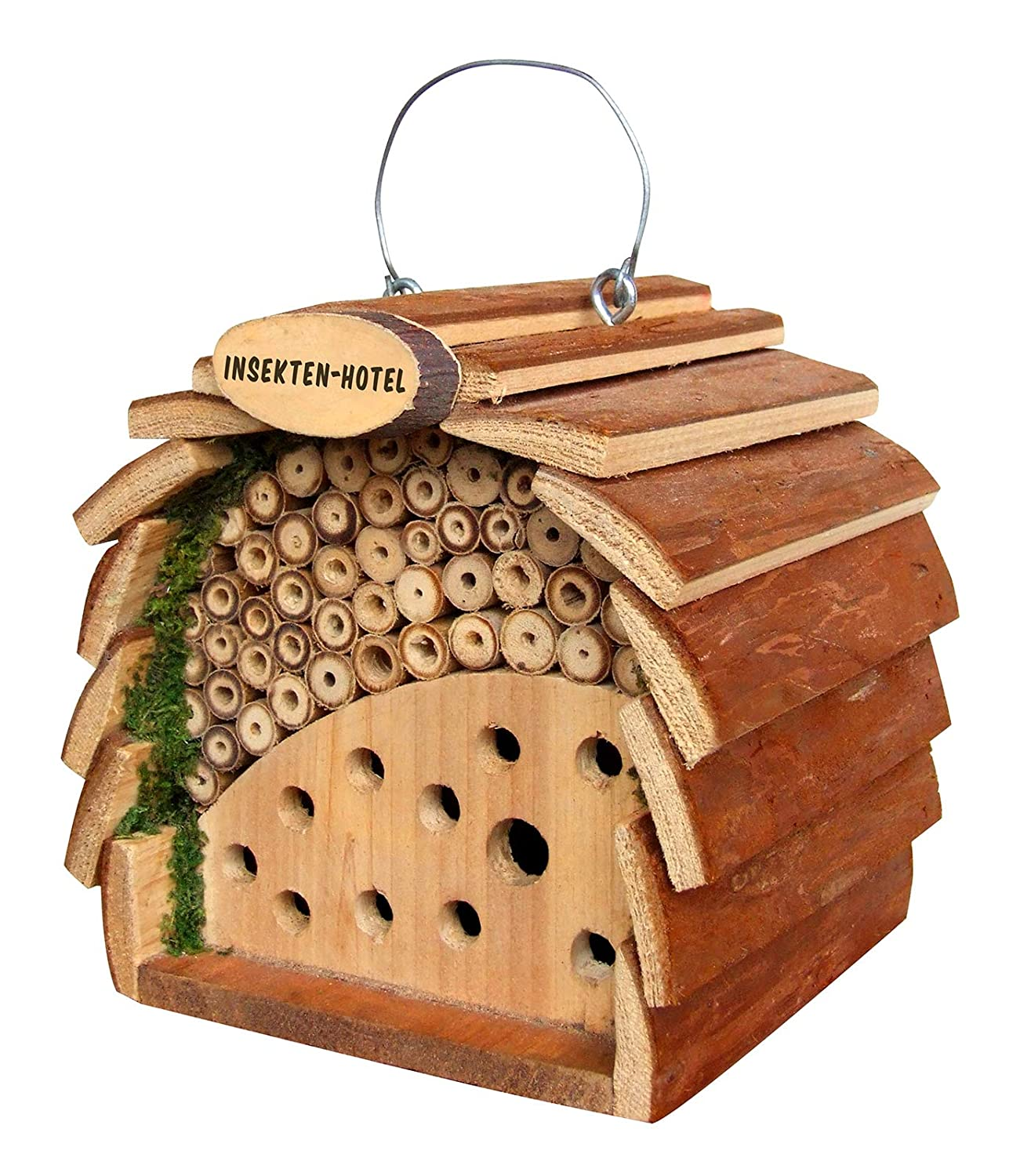 Gardigo 90531 Wooden Insect Bee Ladybirds & Bug Hotel, Natural Wood Colours