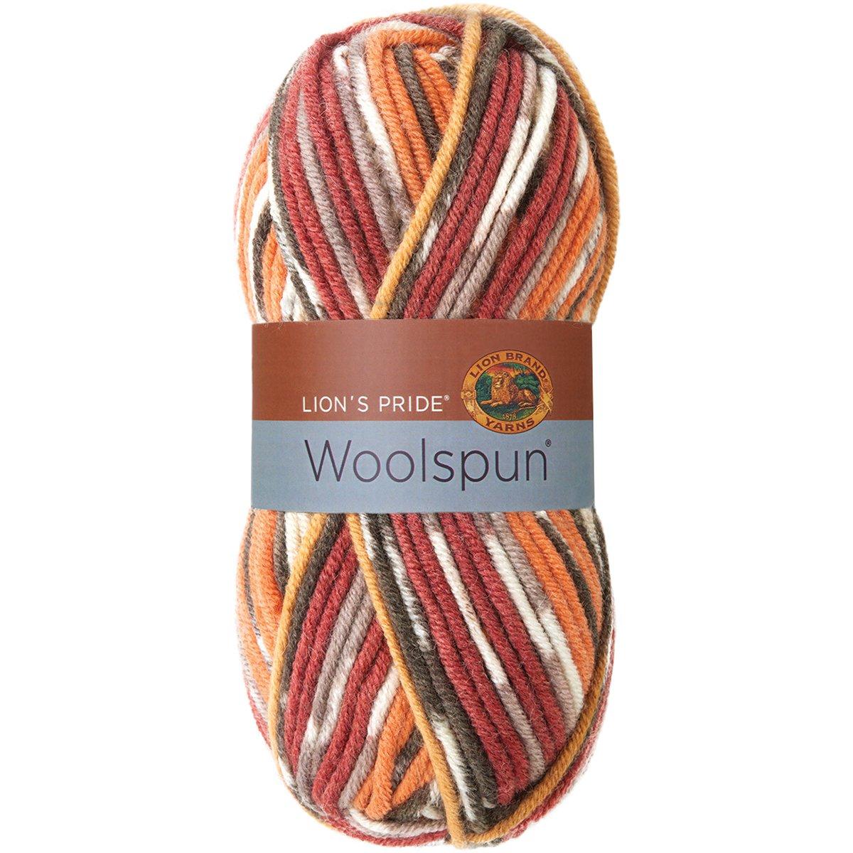 Lion Brand Yarn 671-201 Lions Pride Woolspun Yarn Mesa Print