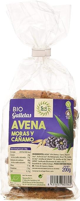 Solnatural Galletas De Avena Moras Y Caðamo Bio 200 G 100 g ...