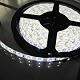 Triangle Bulbs T93007 - Waterproof Flexible LED Strip Light, 300 LED's, 3528 SMD, Pure White, 16.4 feet / 5M